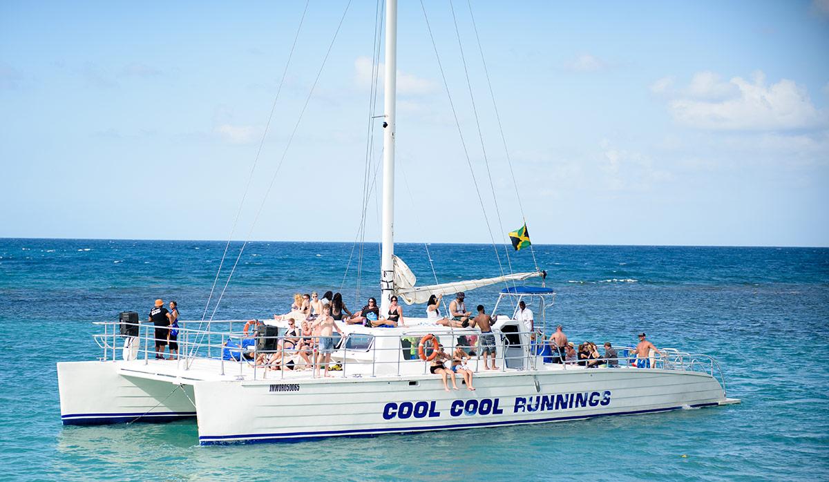 Sun bath on cruise boat.