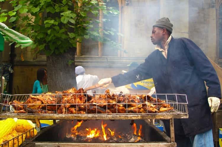 Jamaica jerk food - chicken